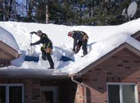 Снег крыша убрать